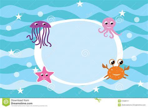 aquarium l fish mirror frame moving picture cartoon sea life frame background stock illustration