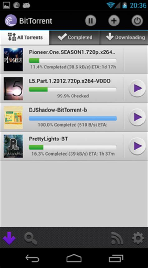 android torrent bittorrent s android app updates make a cinch greenbot