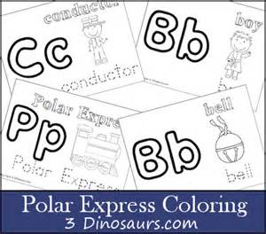 polar express coloring pages up of printables from 3 dinosaurs 3