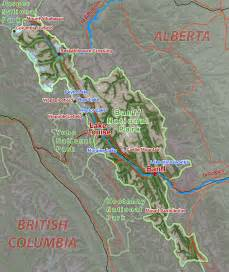 Map Of Banff Canada by Map Of Banff National Park Alberta Canada Bugbog