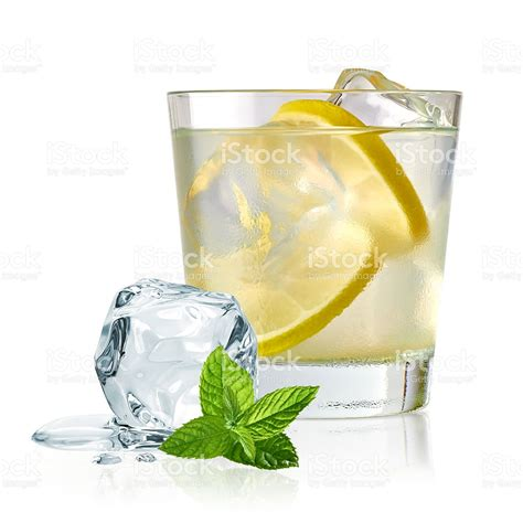 vodka tonic lemon gin tonic in rock glass stock photo more pictures of
