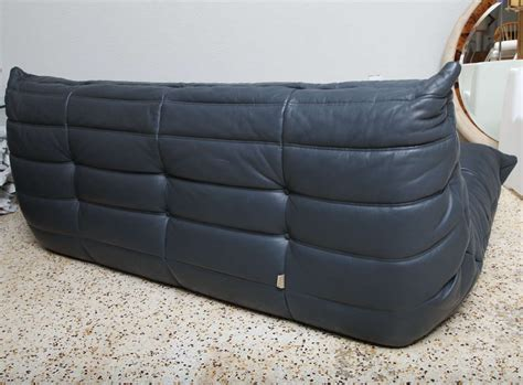 ligne roset sofa togo grey leather togo sofa by michel ducaroy for ligne roset