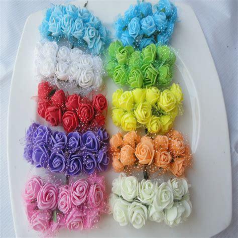 Foam Pe Ukuran 40 Cm X 10 M 1 Mm 2 5cm diameter 144p lot multicolor pe foam mini artificial silk flowers bouquet solid