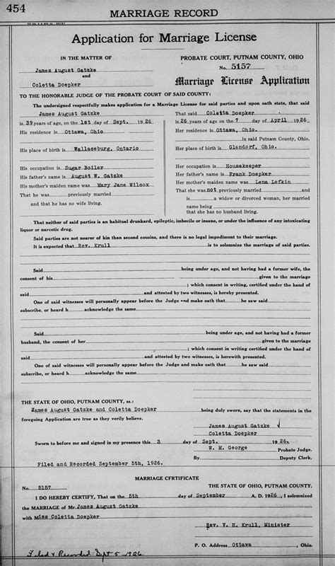 Putnam County Ohio Marriage Records Genealogy Data Page 31 Notes Pages