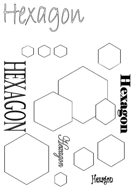 hexagon coloring sheet coloring pages