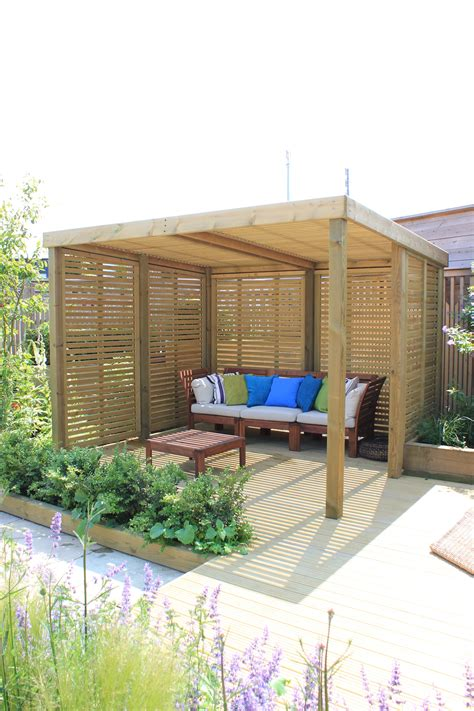 backyard shelters a contemporary garden shelter from jacksons fencing a