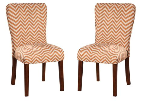 Chevron Dining Chairs Parson Orange Chevron Dining Chair 104046 Coaster