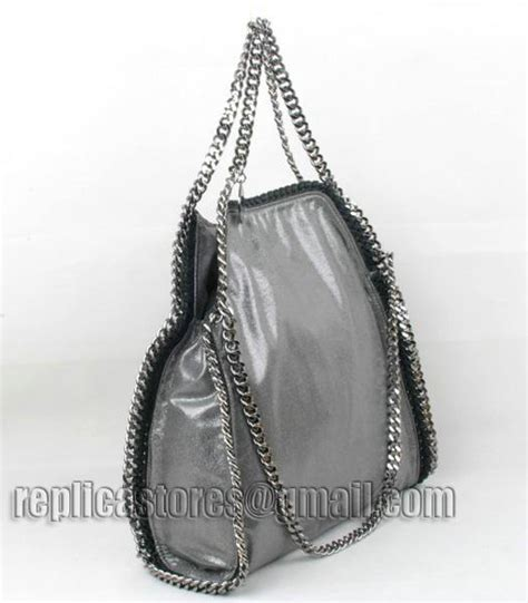 Stella Mccartney Mirror Quality 108 stella mccartney falabella pvc fold silver tote bag