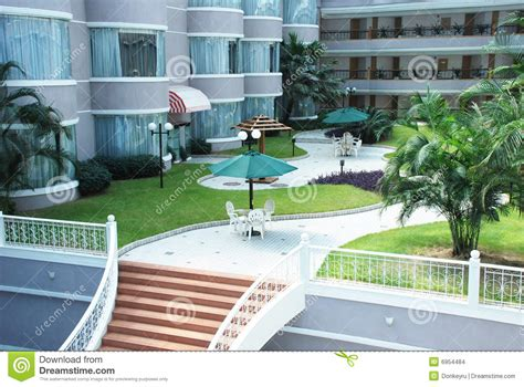 Hotel Patio by The Hotel Patio Garden Stock Images Image 6954484