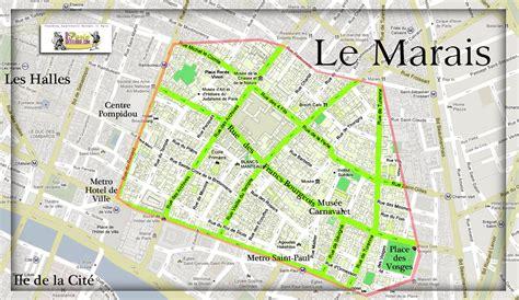 marais map map marais