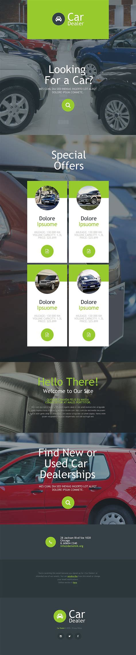 Car Dealer Responsive Newsletter Template 55193 By Wt Newsletter Email Templates Car Dealer Email Templates