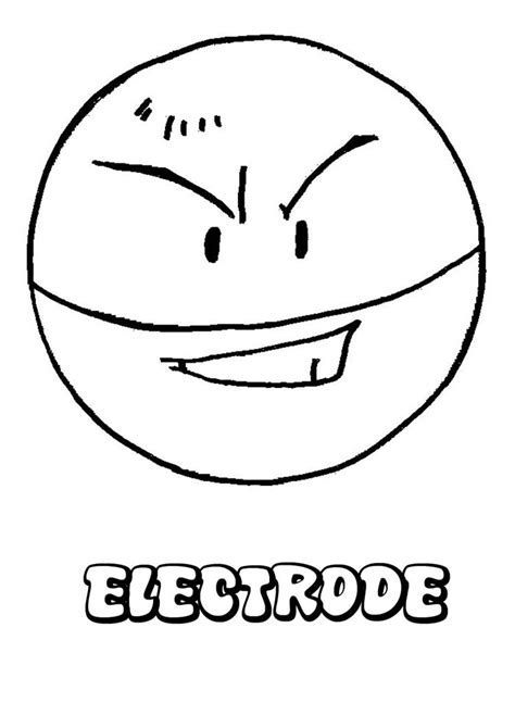 electric pokemon coloring pages electrode coloring pages hellokids com