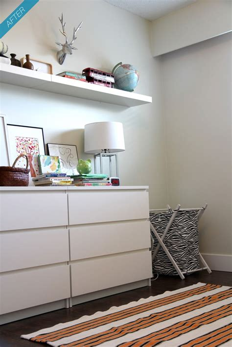 2 shelf bookcase ikea ikea malm and lack shelf girls room pinterest