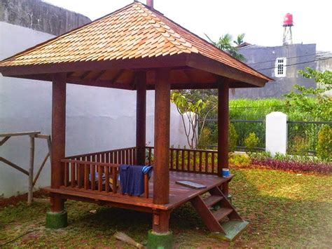 Sk Ii Di Jepang Lebih Murah saung taman minimalis dari bahan bambu