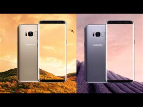 Samsung S8 Black Gold Orchid Grey samsung galaxy s8 official in gold orchid gray black color
