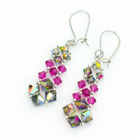 sassy pink earrings favecrafts