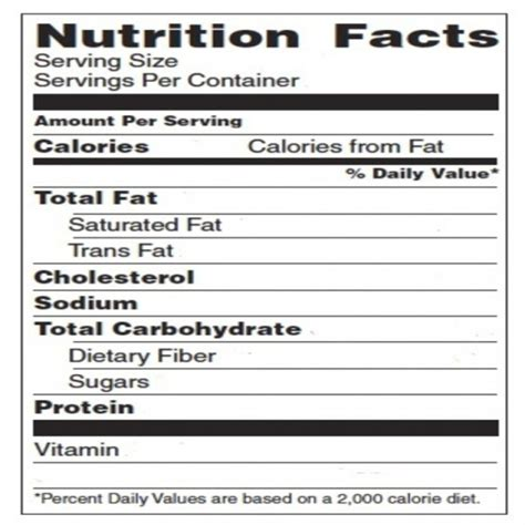 Blank Nutrition Label Template Word Free Download Chlain College Publishing Nutrition Facts Template