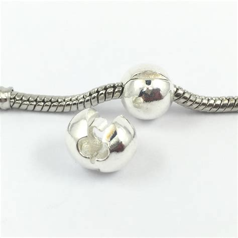 bead stopper free shipping silver plated locks