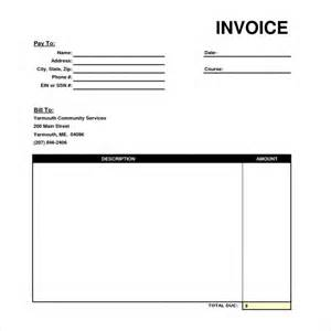 standard invoice template professional invoice templates 6 free documents