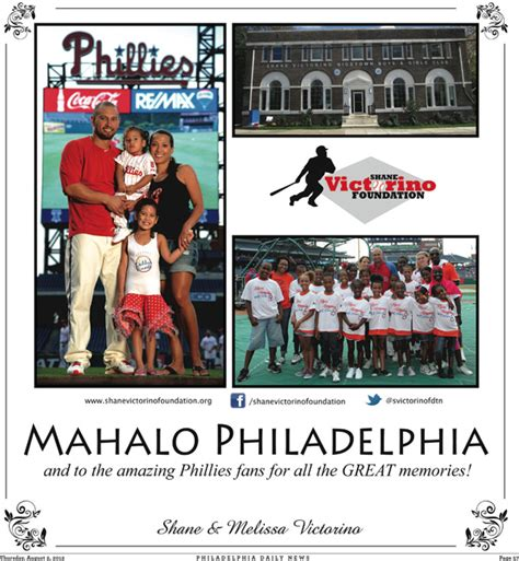 Thanks Philadelphia Inquirer by Victorino Thanks Fans With Ad In Inquirer And Daily News