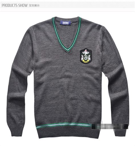 Sweater Harry Potter Hogwarts 1 buy wholesale slytherin sweater from china slytherin sweater wholesalers aliexpress