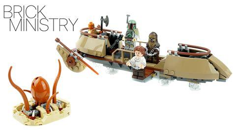 skiff escape lego lego 75174 star wars desert skiff escape youtube