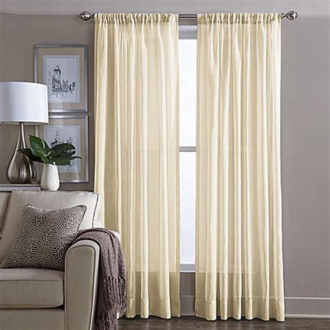 yellow bathroom window curtains buy wamsutta 174 sheer 95 inch window curtain panel in yellow