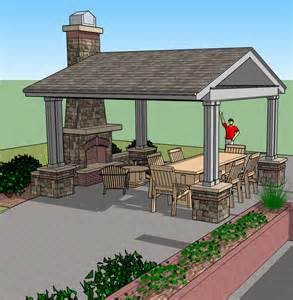 Gazebo plans with fireplace outdoor furniture design and ideas