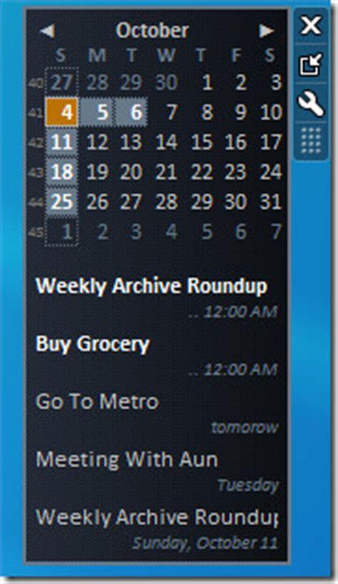 Windows 7 Calendar Gadget Sync Calendar With Windows 7 Desktop