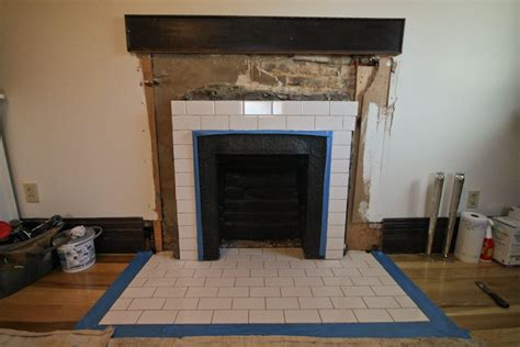 tiling around a fireplace how to tile a fireplace tutorial camels chocolate