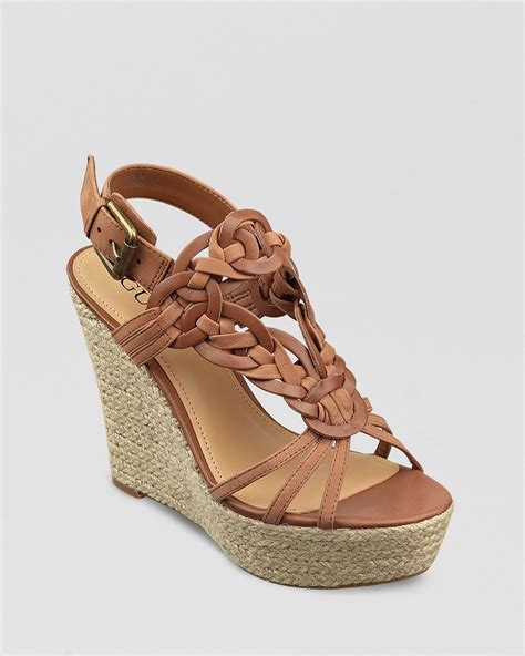 Sale Guess Lingley Wedges Ori guess platform wedge sandals lingley bloomingdale s