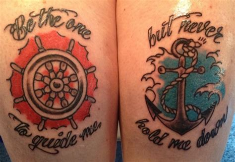 anchor down tattoo quot be the one to guide me but never hold me quot anchor