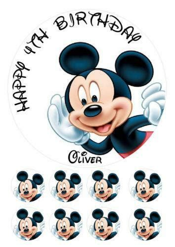 personalised mickey mouse cake topper ebay