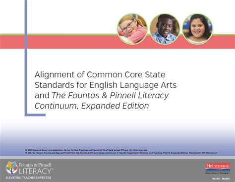 the fountas pinnell literacy continuum expanded edition a tool for assessment planning and teaching prek 8 resource library downloadable study guides