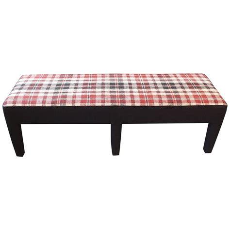 custom upholstered bench custom bench upholstered in vintage handwoven french linen textile for sale at 1stdibs