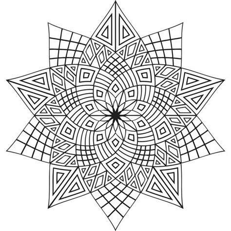 Geometric Flowers Mandala Coloring Pages Batch Coloring Geometric Flower Coloring Pages