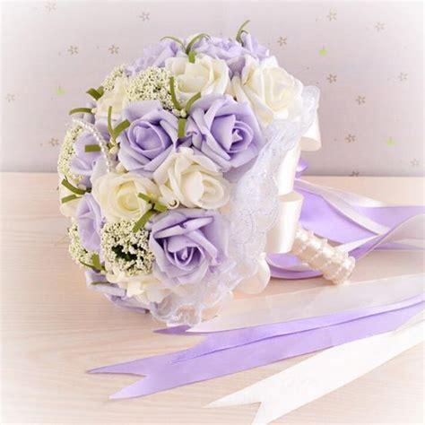 Where To Get Wedding Bouquet by Get Cheap Purple Wedding Bouquets Aliexpress