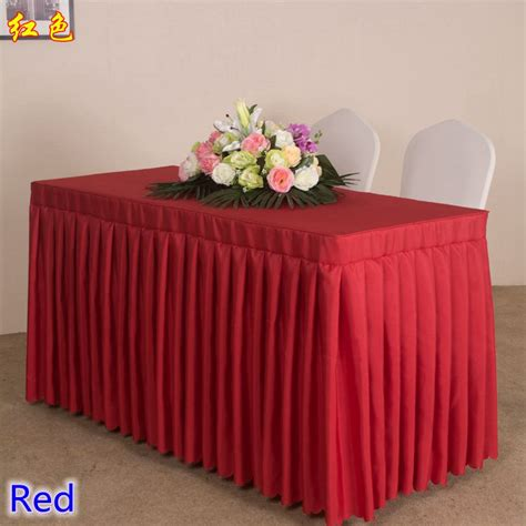 cheap polyester table skirts popular polyester table skirt buy cheap polyester table