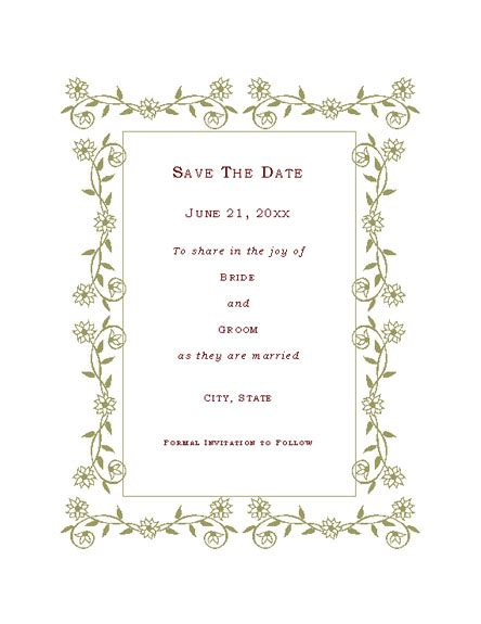 Save The Date Card Wedding Invitation Templates Save The Date Invitation Templates Free