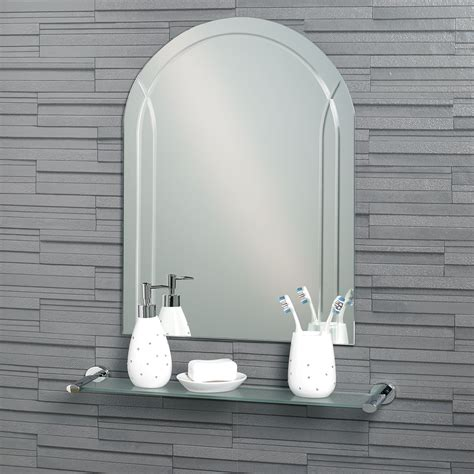 arched mirrors bathroom buy frameless diamond cut arch quot soho quot bathroom mirror