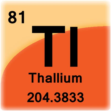 Tl Periodic Table by Thallium Element Cell Science Notes And Projects