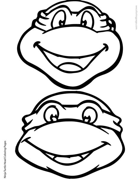 ninja turtle coloring pages birthday ninja turtle head coloring page 02 01 elias pinterest