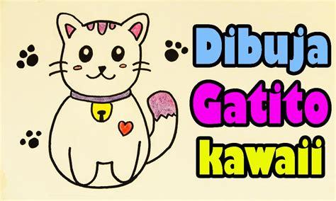 imagenes kawai de gatitos dibuja un gatito japones kawaii aprende a dibujar dibujin