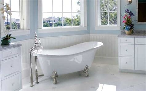 claw foot tubs adding 19th century chic to modern bathroom