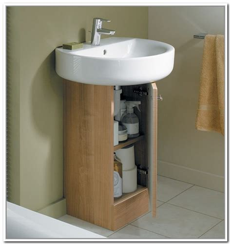 under bathroom sink storage ideas under sink storage for pedestal sinks home design ideas