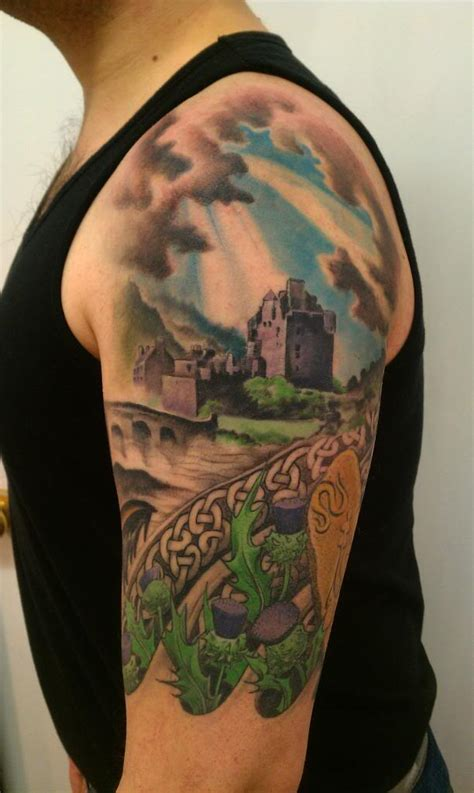 12 scottish tattoos on half sleeve