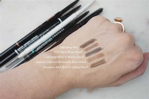 Colourpop Brow Pencil brow wiz vs nyx micro brow pencil plateau