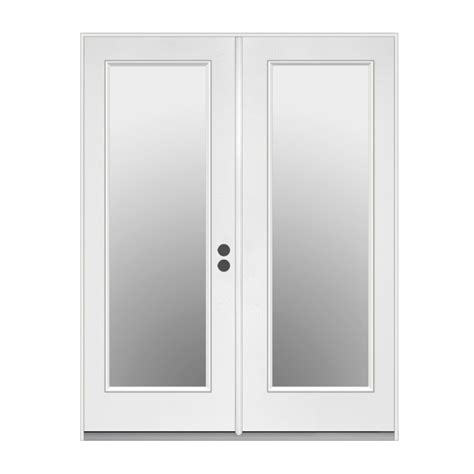 inswing patio door shop reliabilt 71 5 in 1 lite glass steel inswing