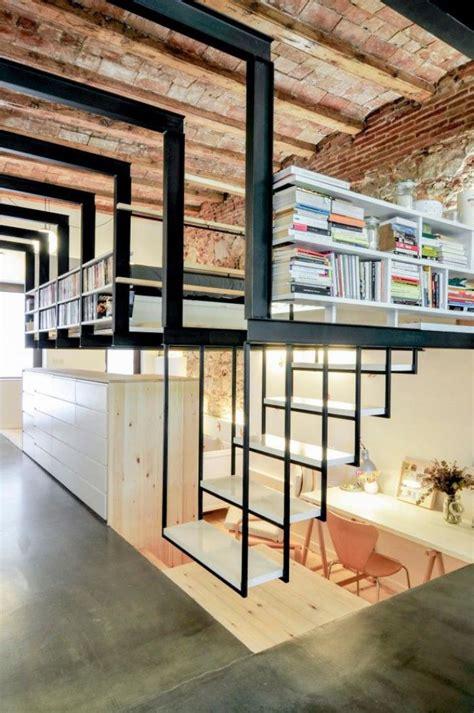 Buku Transformation Code designs d escalier suspendu le look du loft moderne
