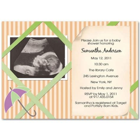 Baby Shower Invites With Photo by Unique Pastel Stripes Photo Baby Shower Invitation Bs023